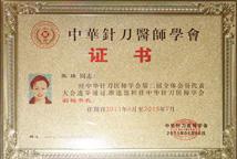 张瑾教授担任中华针刀